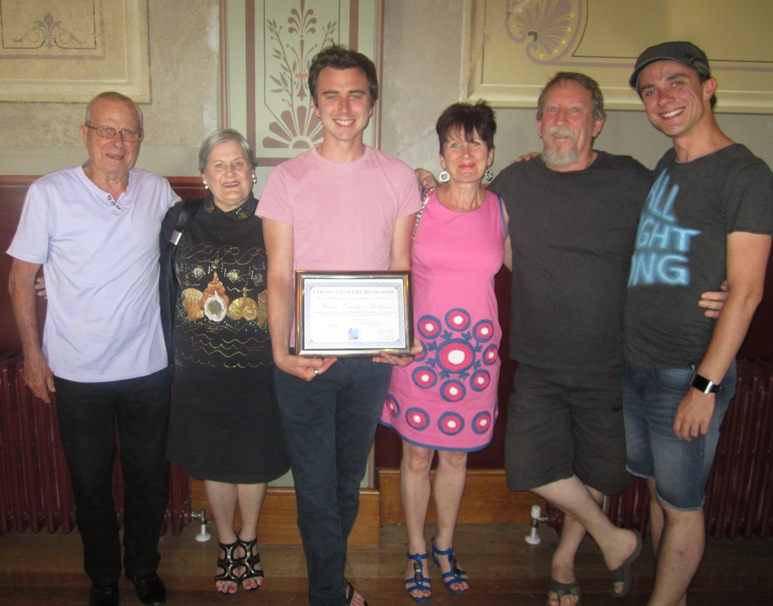 New Life Member – Marcus Cassidy-Anderson with family, Frank Cassidy, Iris Cassidy, Sharon Cassidy-Anderson, Norm Cassidy-Anderson and Mark Spencer.